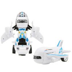 Самолет Kronos Toys Airbus Робот трансформер 2в1 музыкальный светящийся (par_8995)