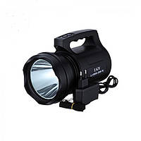 Мощный аккумуляторный фонарь прожектор ручной ударопрочный корпус Kronos LJ-8800 30W T6 Черный (par_lj8800)