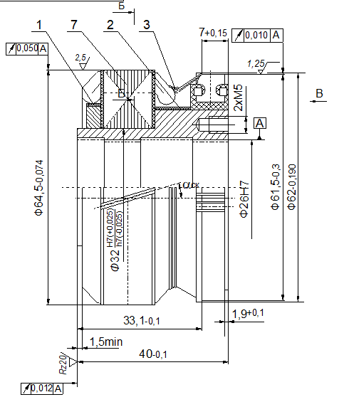 Ротор (якорь) к тахогенератору 4Р