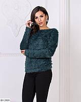 Теплый пушистый свитер ангора травка размеры 50-56 арт 4188