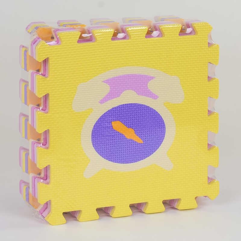 """Коврик-пазл EVA """"Микс"""" НК 014 (24) TK Group, массажный, 9шт в упаковке, 30х30 см"""