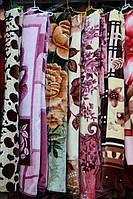 Акриловое плед-одеяло Евро размера цветы
