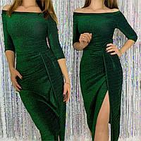 Женское нарядное платье из люрекса, фото 1