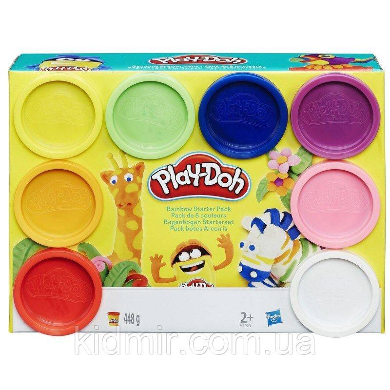 Плей-До набор пластилина 8 цветов Радуга Play-Doh Hasbro A7923