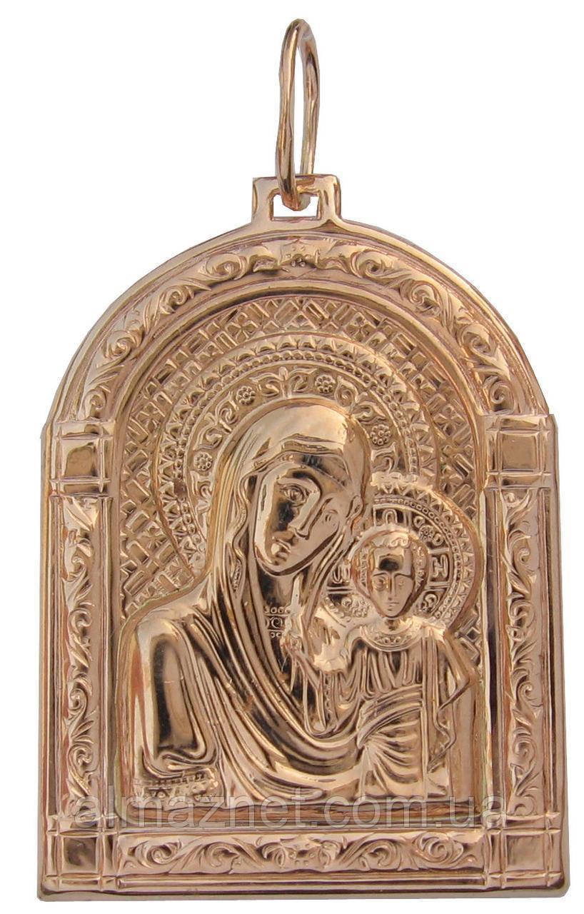 Ладанка из красного золота Божией Матери