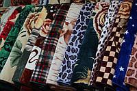 Акриловое плед-одеяло Евро размера разные окрасы