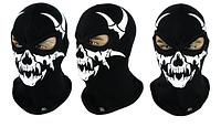 Балаклава подшлемник Radical Skull S7 Череп черный