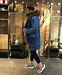 😜 Парка - Мужская зимняя парка с мехом джинсова, фото 5