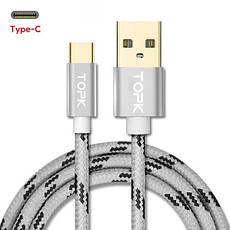 Оригінальний кабель TOPK AN09 Type-C Quick Charge 3A швидка зарядка 3A Rose Gold (CT0109261510), фото 3