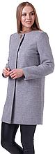 Пальто демисезонное женское NIO Collection Диана Серый, пальто шерстяное женское