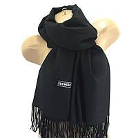 Женский кашемировый шарф LuxWear Черный
