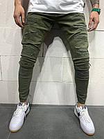 😝 Джинсы - Мужские джинсы (хаки)