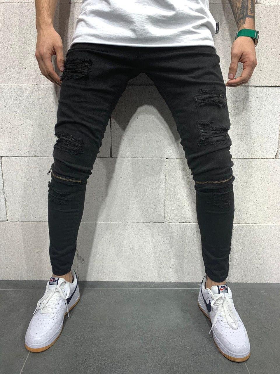 😝 Джинсы - черные классные молодежные джинсы