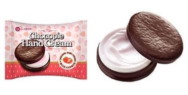 Крем для рук с маслами The Saem Chocopie Hand Cream Strawberry 35 мл