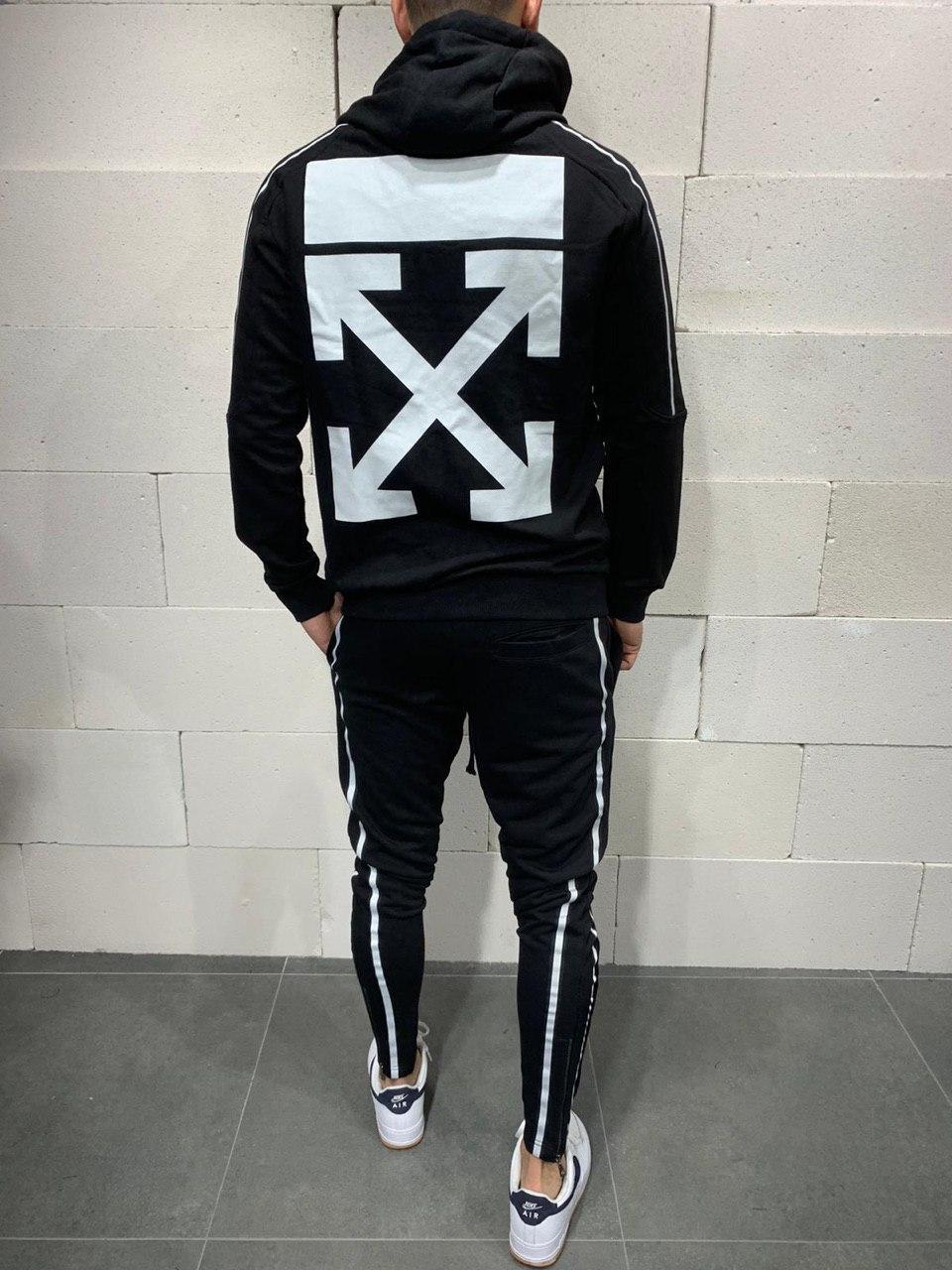 😜 Спортивный костюм -Стильный мужской спортивный костюм черного цвета Off White