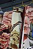 Акриловое плед-одеяло Евро размера бежевые цветы
