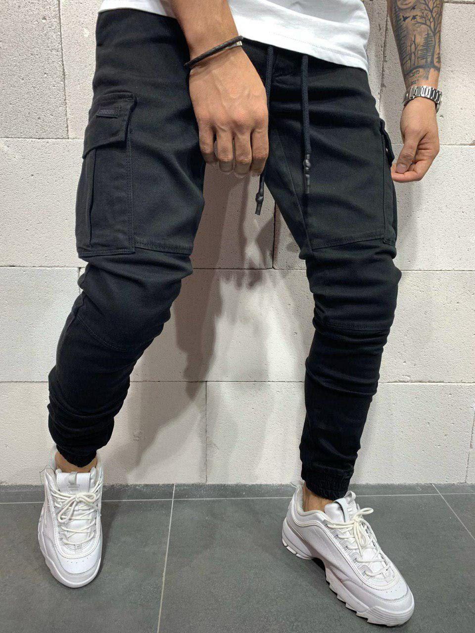 😝 Джинси - Чоловічі чорні джинси джокери