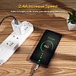 Оригинальный кабель TOPK AN09 Micro-USB Quick Charge 2.4A быстрая зарядка Gold (CT0109110910), фото 6