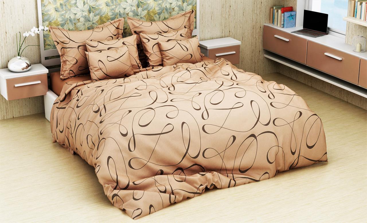 Комплект постельного белья евро на резинке 200*220 хлопок (13096) TM KRISPOL Украина