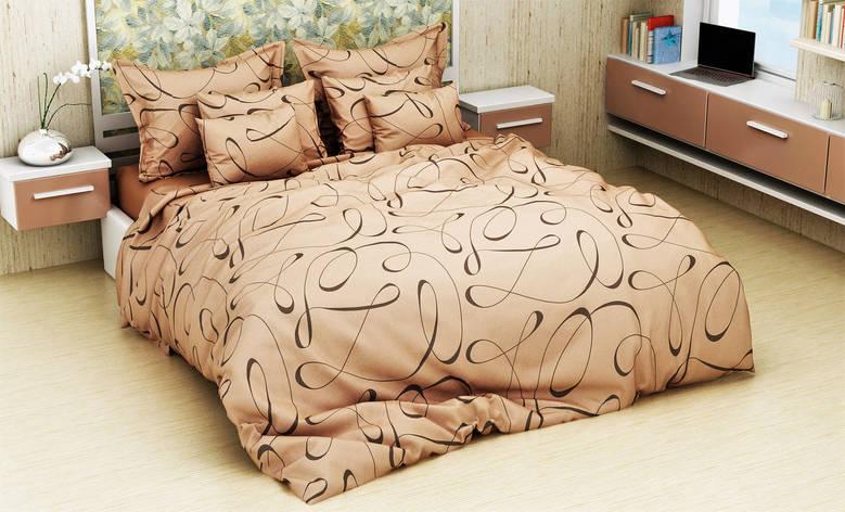 Комплект постельного белья евро на резинке 200*220 хлопок (13096) TM KRISPOL Украина, фото 2