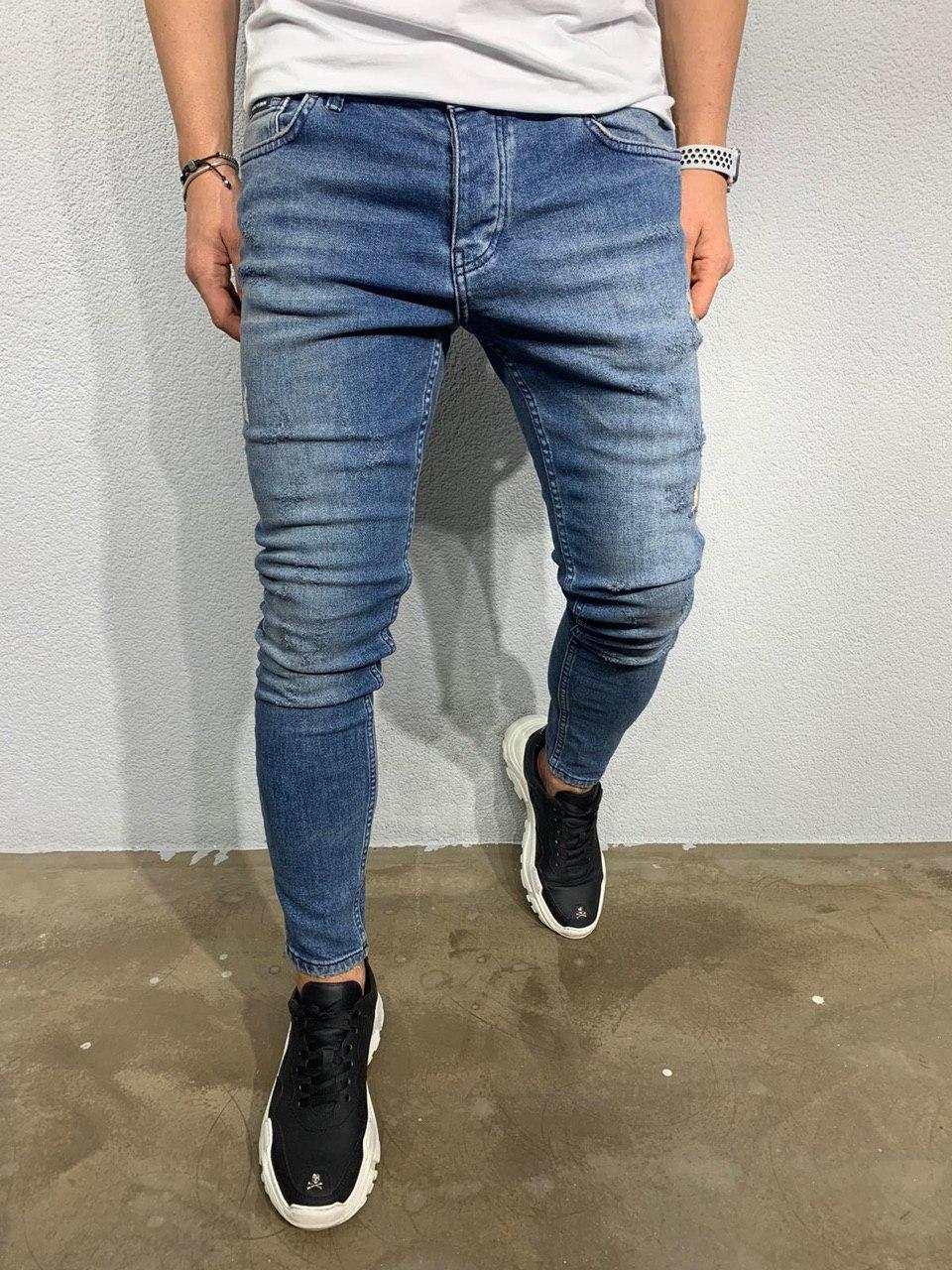 😝 Джинси - блакитні чоловічі джинси