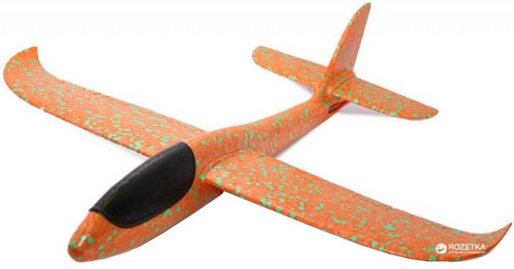 Літак Планер метальний Explosion Великий розмах крил 49 см Помаранчевий