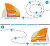 Літак Планер метальний Explosion Великий розмах крил 49 см Помаранчевий, фото 6
