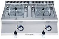 Фритюрница электрическая верхнего расположения, 7+7 л две ванны, наружный  нагревательный элемент