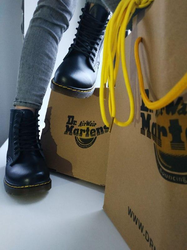 """Женские  зимние ботинки Dr.Martens """"Black"""""""