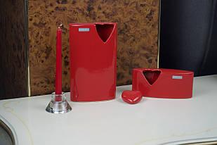 Комплект ваз для цветов красный керамический 2шт