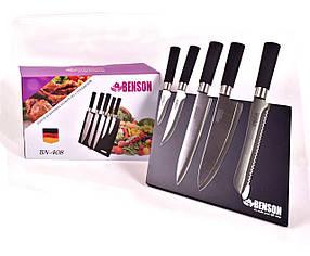 Набор ножей на магнитной подставке Benson BN-408 5 предметов