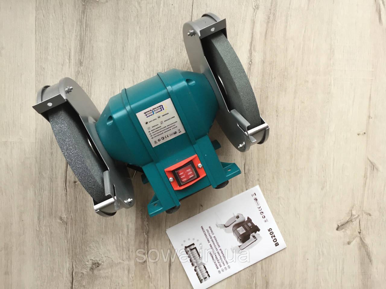 ✔️ Точило Euro Craft BG 205  |  200мм, 1800 Вт