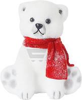 """Игрушка новогодняя """"Медвеженок в шарфике"""", высота 21 см"""