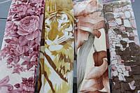 Акриловое плед-одеяло Евро стандарта разные окрасы