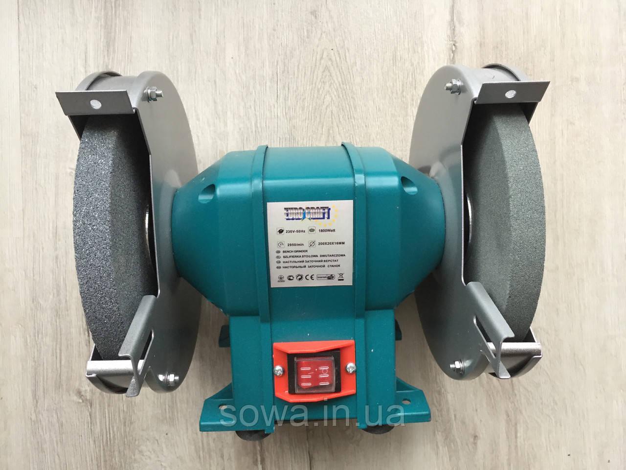 ✔️ Точильний верстат Euro Craft BG 205 / 1800W