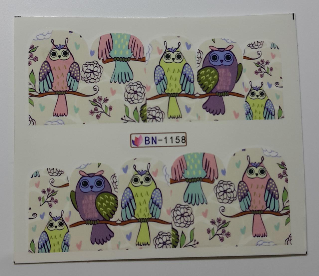 Наклейка для ногтей BN-1158
