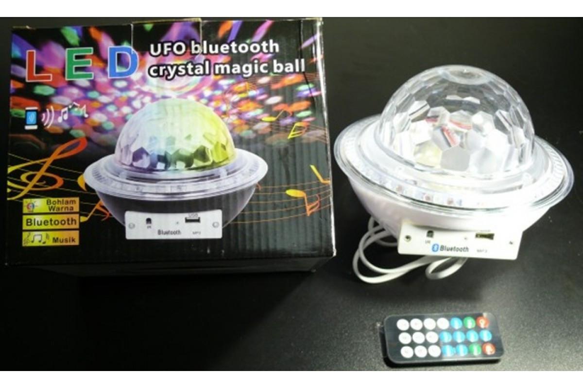 Диско шар лампа тарелка BT (RD-7203)