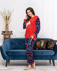Молодёжная махровая пижама в оленях  42-50 размеры, фото 2