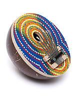 Калимба расписная из кокоса,диаметр 16 см