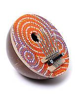 Калимба расписная из кокоса диаметр 16 см