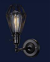 Настеннй светильник бра в стиле лофт&707W130-1 BK