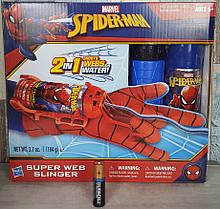 Бластер, перчатка спайдермена стреляющая паутиной и водой,  Hasbro из США