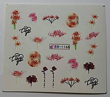 Наклейка для ногтей BN-1168
