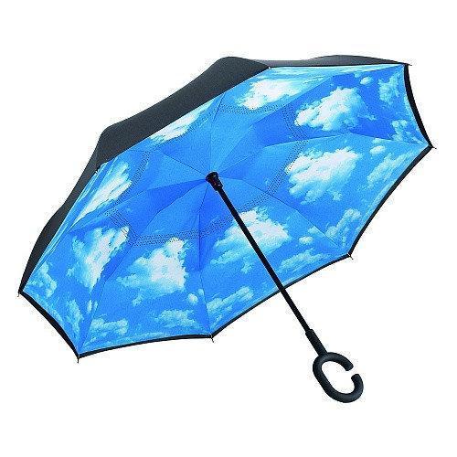 Зонтик umbrella НЕБО, Зонт наоборот, Обратный зонт, Умный зонт, Зонт трость, Ветрозащитный зонт, Зонт складной