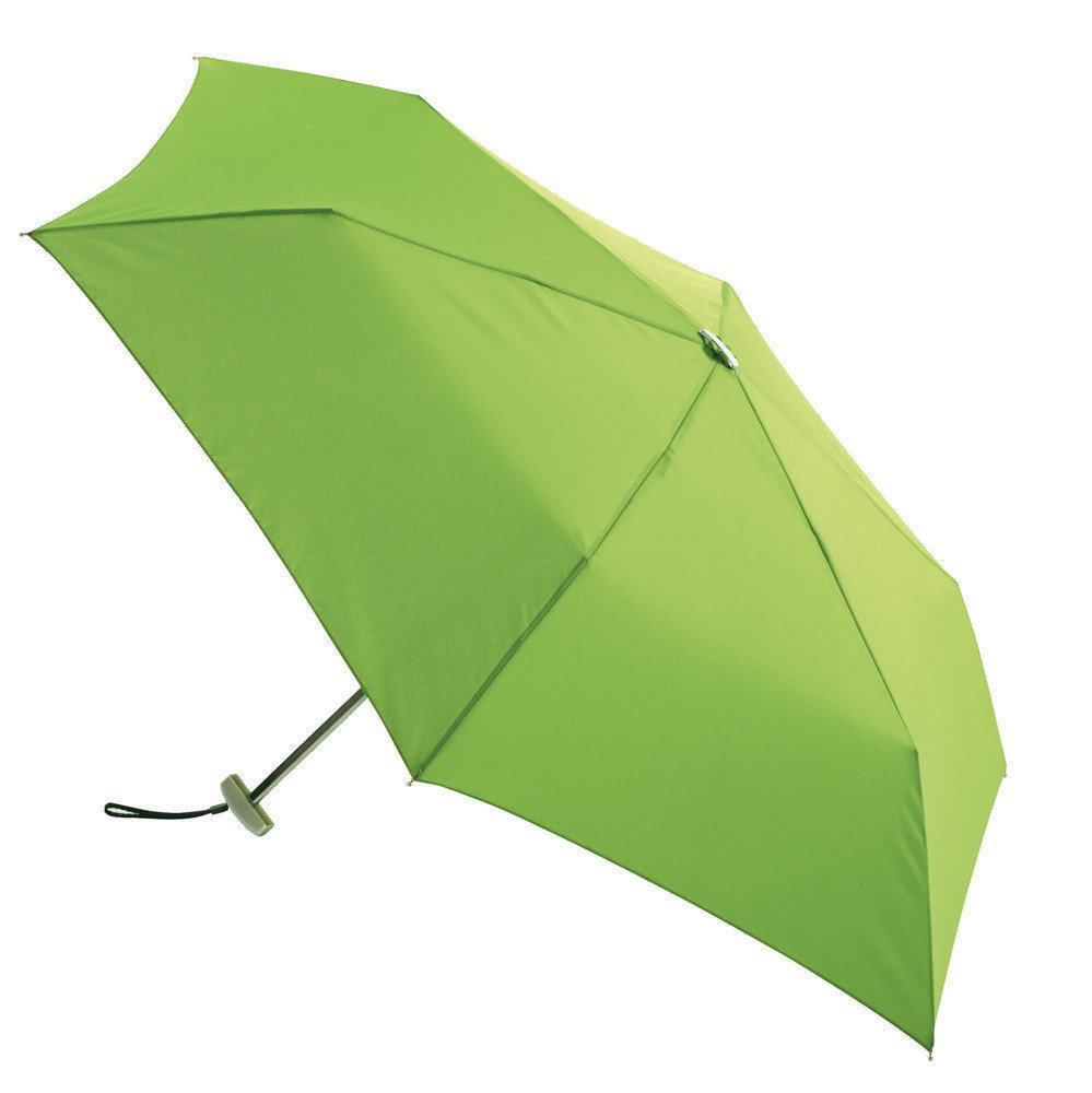Мини ЗЕЛЕНЫЙ зонтик в футляре, Маленький складной зонт, Зонт с футляром чехлом, Зонтик компактный