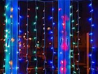 Водопад 240-320L 3х2м с заглуш. (10х24Ламп) Микс (RD-7153), Разноцветная гирлянда, Новогодняя гирлянда, фото 1