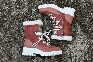 "Ботинки "" Нота "" Розовые. Зимние ботинки."