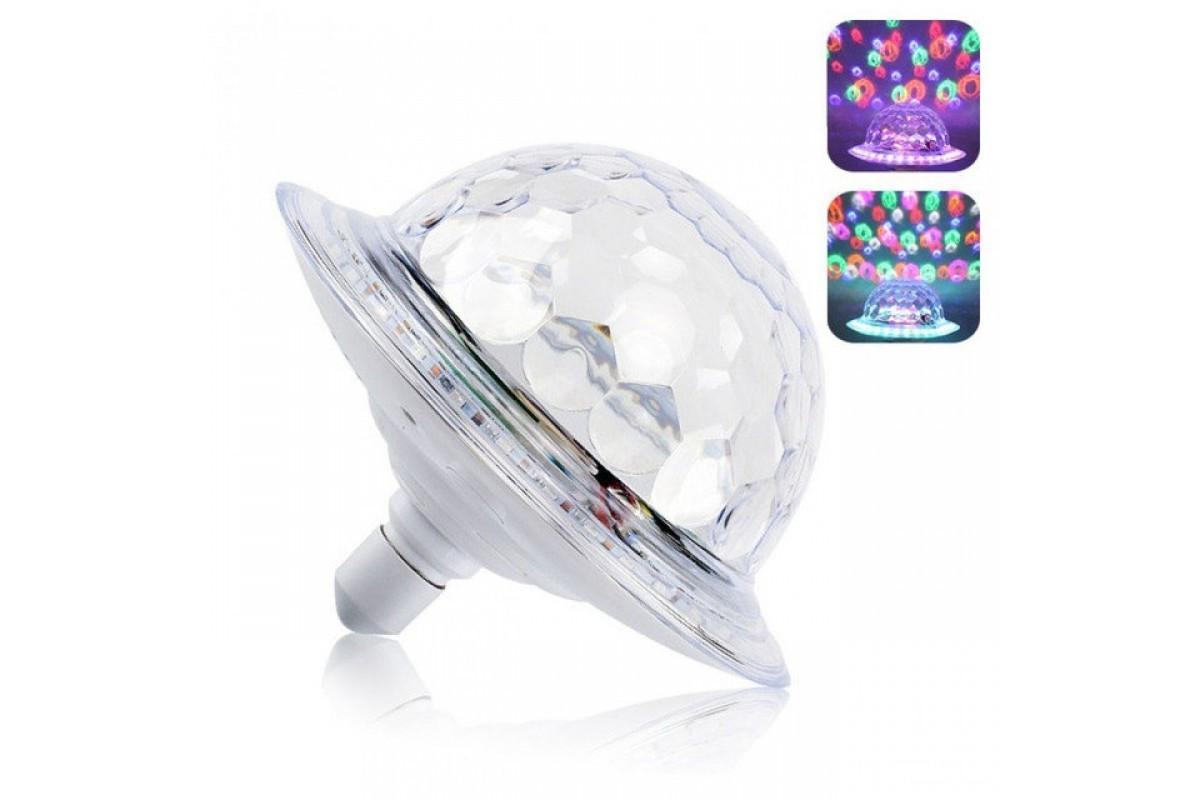 Диско шар лампа тарелка BT (RD-7202)
