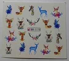 Наклейка для ногтей BN-1175