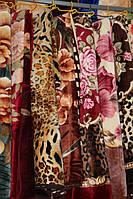 Акриловое плед-одеяло Евро размера (цветы)
